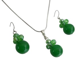 Jewelry Inspiration For Bridesmaid In Green Color Necklace Earrings - $8.83