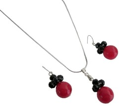 Red Black Combo Jewelry Holiday Gifts Cute Girls Gifts - $8.83