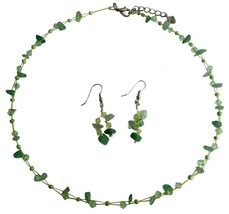Fashionable Bead Jewelry Peridot And Jade Stone Chips Jewelry Set - $9.17