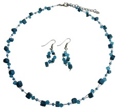 Custom Unique Turquoise Nuggets & Crystals Jewelry Set - $9.17