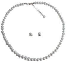 Junior Bridesmaid Jewelry Sleek Gorgeous White Pearls Jewelry Set - $9.48