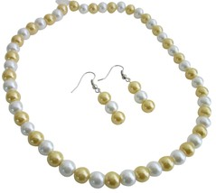 Affordable Inexpensive Nice Quality Jewelry Bright Gold & White - $8.83
