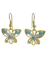 Holidays Gift Butterfly Earrings Golden butterfly - $4.30