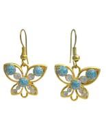 Holidays Gift Butterfly Earrings Golden butterfly - $4.30