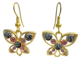 Christmas Gift Butterfly Jewelry Red Black Butterlfy Earrings - $4.30