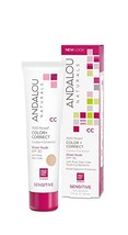 Andalou Naturals 1000 Roses CC Color + Correct, Sheer Nude, SPF 30, 2 oz., For S