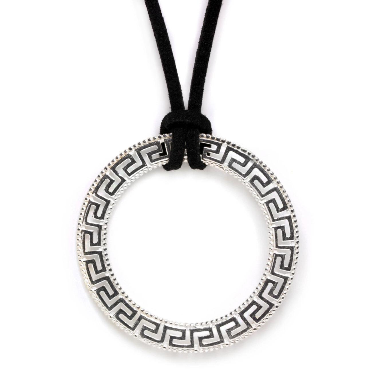 951247 meander greek key silver large necklace 1