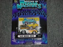 Muscle Machines '69 Boss 302 02-98 Flamed Free Usa Shipping - $11.29