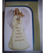 INSPIRATIONAL ANGEL WOOD CARVED LOOK  - $12.00