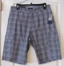 Calvin Klein 100% Cotton Cargo Shorts Stormy Weather (Blue) Men's Sz. 32W Nwt - $24.32