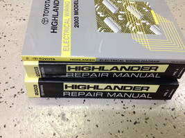 2003 Toyota Highlander Suv Truck Service Shop Repair Manual Set New W Ewd Oem - $341.55