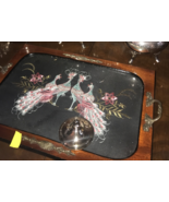 Wood Serving Tray with Peacocks - $6,187.50