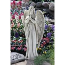 PRAYING ANGEL STATUE Indoor Outdoor Garden Sculpture Decor Art Ornament ... - $74.27
