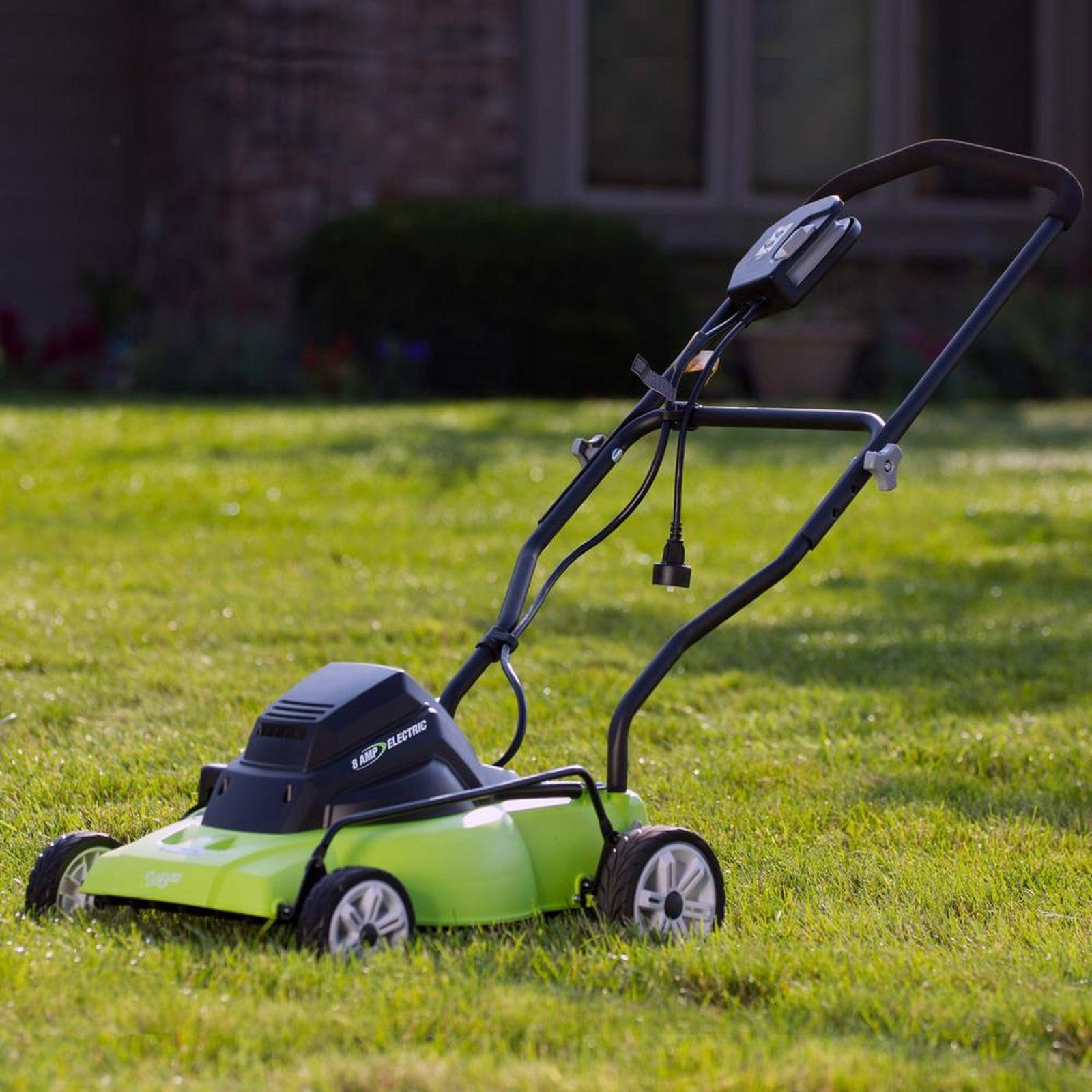 walk behind lawnmower corded electric 120 volt push single. Black Bedroom Furniture Sets. Home Design Ideas