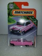 Matchbox Metal MBX Road Trip 1955 Cadillac Fleetwood, Pink, NIP - $3.25