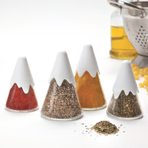 Peleg Design Himalaya Spice Shakers set of 4 designer Kitchen Home Rack... - $34.00