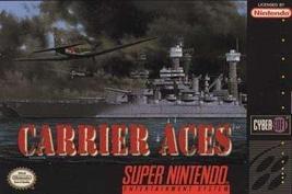 Carrier Aces - Nintendo Super NES - $153.05