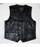 Black Giovanne Navarre Leather Vest  Sz  Large ... - $30.00