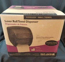 San Jamar Lever roll towel dispenser NIB Hands free - $28.01