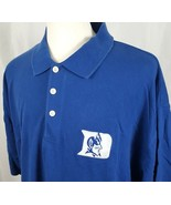 Duke Blue Devils NCAA Russell Athletic XXL 2XL Polo Collared Shirt Embro... - $20.89
