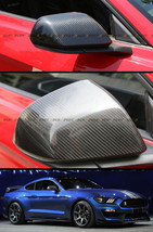 Carbon Fiber Style Side Mirror Covers For 2015-2016 Ford Mustang W/O Led Signal - $73.26