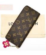Ico Louis Vuitton Auth Monogram flower charm Porutofoiyu Clemence leathe... - $753.49