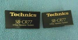 Technics SB-CR77 Speaker Plastic Emblem, tag (Pair) - $10.40