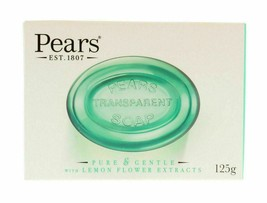 Pears Transparent Soap Pure & Gentle - Lemon Extracts 125g Bars Boxed x 3 - $8.89