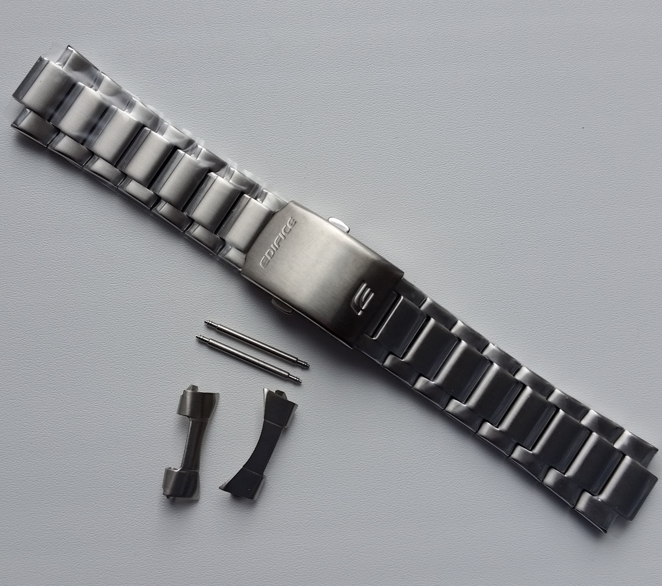 Primary image for Genuine Replacement Watch Band 23.5mm Stainless Steel Bracelet Casio EF-129D-1A