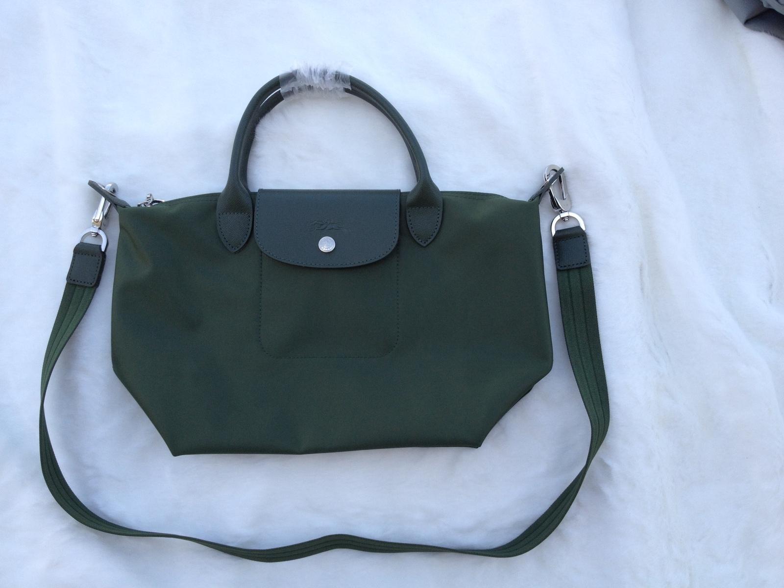 Longchamp Le Pliage Medium Moss Green Handbag Neo Shoulder Strap 1512578749