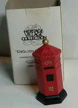 DEPARTMENT 56 HERITAGE VILLAGE ENGLISH POST BOX   METAL 58050 NIB - $12.72