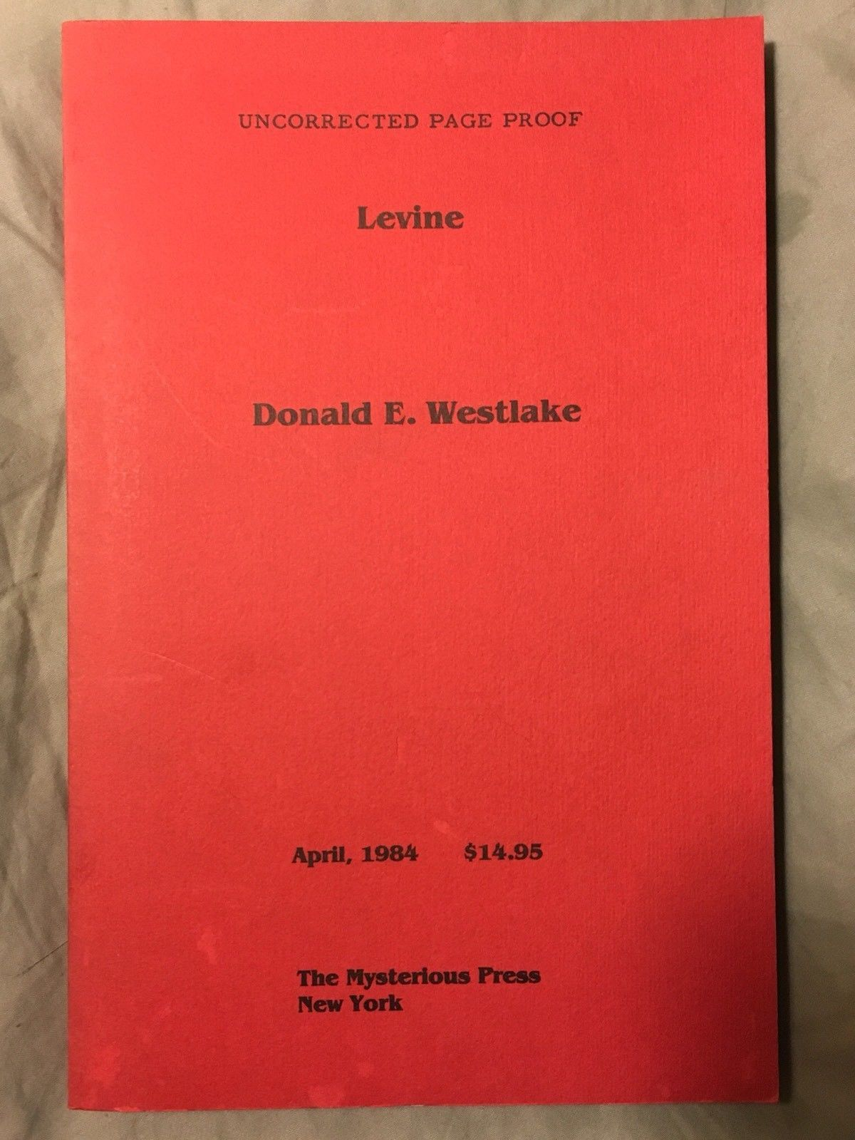 Levine Uncorrected proof - Donald E. Westlake