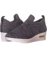 DKNY Angie Slip-On Wedge Sneakers 993, Two Tone Knit Dark Grey, 7.5 US /... - $45.11