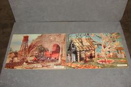 2 Artcraft Children's Inlaid Puzzles: Cowboys & Train + Gingerbread [VIN... - $12.00