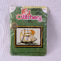 Vintage Jiffy Stitchery Clipper Cross Stitch Kit Donna Kooler Sunset Designs 826 - $12.99