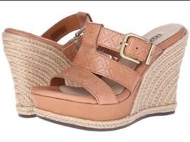 UGG Australia SHOES Size: 12 NEW Tan Hedy Embossed Leather Platform Slide Buckle - $179.00