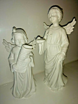 """Department 56 White Angel Figurine Holding Music and Angel w/ Plate?  7""""... - $12.38"""