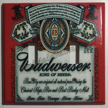 Budweiser Beer Logo Light Switch Power Duplex Outlet wall Cover Plate Home decor image 7