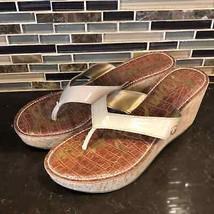 Sam Edelman Romy tan patent cork wedge sandals - $40.59