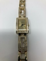Ladies Guess Watch With Gold Color Diamond Look And Square Face - £22.99 GBP