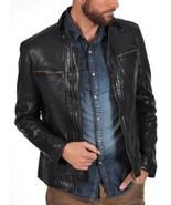 Men Black Real Leather Jacket Biker All Size XS S M L XL XXL 3XL 4XL NEW... - $120.62+