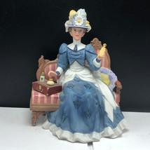 AVON FIGURINE vintage porcelain statue sculpture Mrs Albee award 1992 co... - $55.44