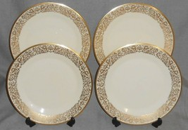 Set (4) Lenox TUSCANY PATTERN Dinner Plates MADE IN USA - $118.79