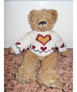 "Ty Attic Treasure Bear Fluffy Heartley 12"" Tall Stuffed Animal Toy - $3.61"