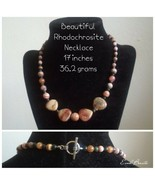 Rhodochrosite Heart Necklace - New - $25.00