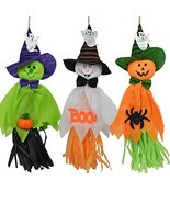 Halloween Hanging Ghost Decor Pumpkin Ghost Spider Paper Hanging Decor f... - $279,19 MXN