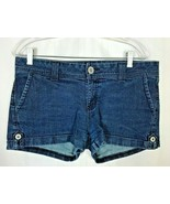 Guess Women's Shorts Size 31 Cuffed Denim 4 Pocket Metal Button Accents - $23.47