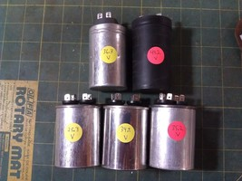 7NN79 5PK CAPACITORS FROM DEHUMIDIFIERS, NOMINAL 250VAC, 35MF, ALL VERIF... - $29.47