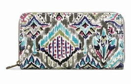 NWT Sakroots Large Zip Around Wallet Slate Brave Beauti Coated Canvas SH... - $38.00