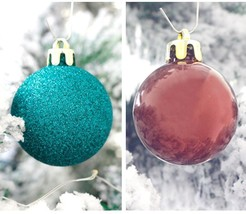 Red Green Gold Bauble Balls For Christmas Party Decoration Ornament Acce... - $30.99